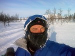 Day 81. The cold crisp morning was a fine time to cross the Arctic circle