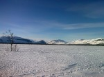 Day 84. Looking north west up Sitojaure lake towards Pastavagge valley and Apar massif
