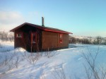 Day 107. The cabin at Stiipanavzi was well sited between Mollesjohka lodge and Skoganvarre