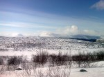 Day 108. The mountains of Beiggevatgaise rise steeply from the plateau of Finnmarksvidda