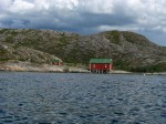 Day 194.2 An old robuer at the entrance to the secluded bay by Helloy island