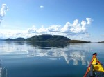 Day 195.3 Calm seas as I head across to Kvaloy from Lyngvaer