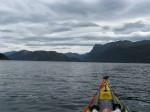 Day 214.2 Heading up Nordfjord to Rugsundoy island and the mountain of Hornelen