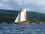 Day 223.1 A gaff rigged sailing boat in Selbjornfjord
