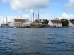 Day 225.1 Haugesund was a busy centre with a rich maritime history and a wealth of traditional boats were moored throughout the centre