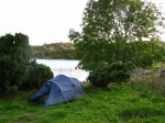 Day 225.5 My campsite in the hidden inlet of Vagsskjeften by Arsvagen on the south of Vestre Bokn island