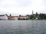 Day 239.3 The small town of Lillesand with its Lutheran church and some wooden waterfront buildings