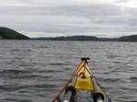 Day 248.6 Paddling up Drobaksund with Oscarsborg fort on the island in the middle
