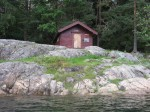 Day 248.9 The small 100 year old cabin called Fiskerhytta in Sandspollen
