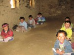 Some of the children at what passes for a school in Jang in Limi Valley in Nepal