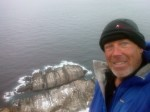 Day 118. The end of the road with the top of Scandinavia in the waves below