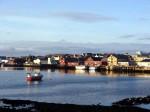 Day 142.1 Looking east across Vardo harbour in the evening