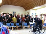 Day 145.2 Choir Practice with the members of the famous Berlevag Mens Choir