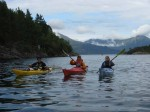 Day 205.2 And then there were three as Karen and her daughter Kirsty came out in their kayaks