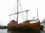 Day 207.1 Ragnar Thorseths replica Viking boat was the same as the one he sail round the world in