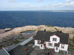Day 238.2 The view from the top of Ryvingen Fyr lighthouse towards Lindesnes peninsula in the west above the keepers cottage