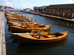Day 245.4 A collection of vintage 'snekker' fishing boats in one of Stavern harbours